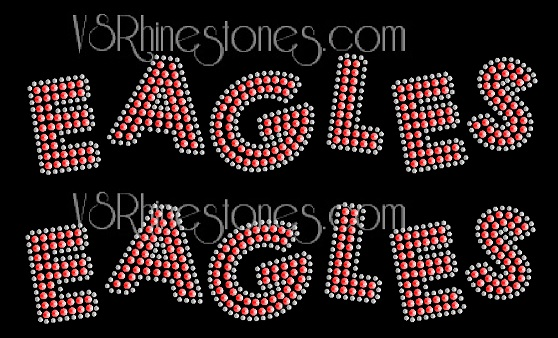 EAGLES Sequin Word (2 per order) Orange